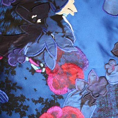 Detail Jenny King Embroidery Beaded Textiles Modern