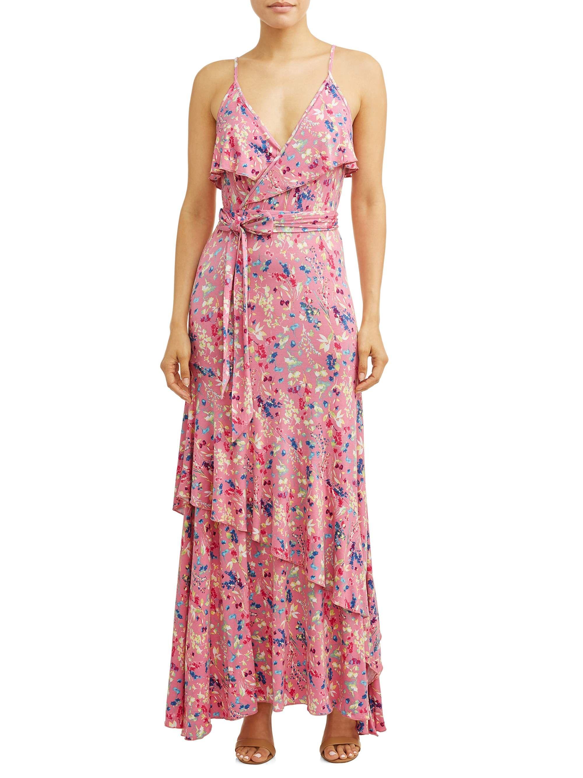 Faux Wrap Front Maxi Dress Women S Floral Print Ad Front Spon Maxi Faux Womens Maxi Dresses Maxi Knit Dress Pink Floral Maxi Dress [ 2667 x 2000 Pixel ]