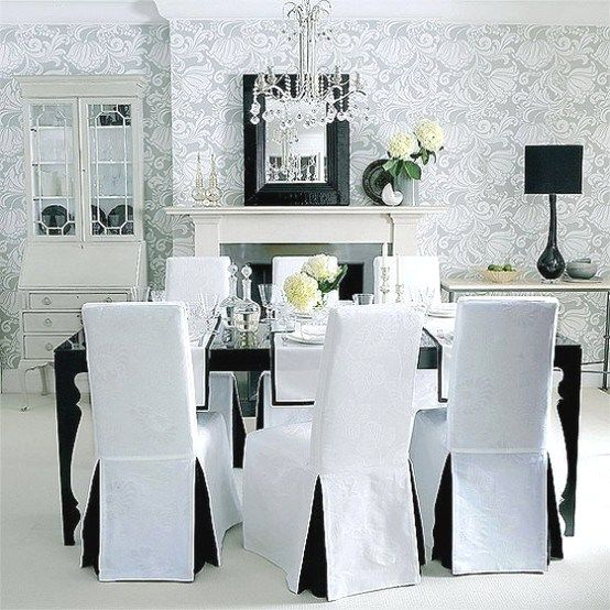 White Dining Room Chair Slipcovers Http Www Otoseriilan Com In 2020 Dining Room Chair Covers Small Dining Room Chairs Dining Room Small