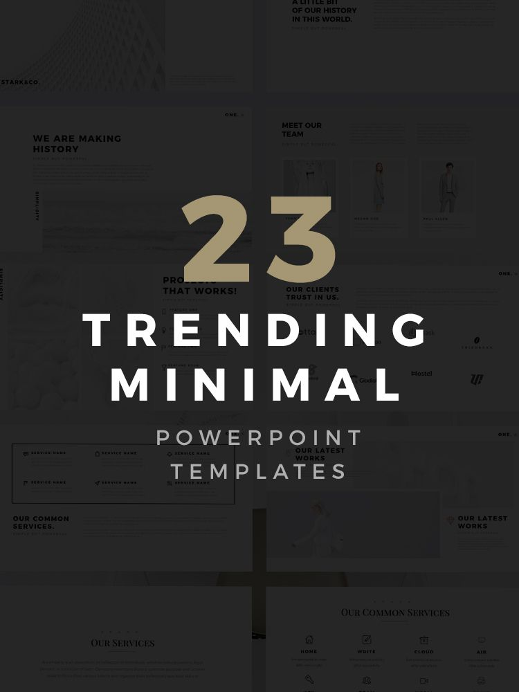 23 Free And Premium Minimal Powerpoint Templates Are Trending And Can Completely Help Your Busine Powerpoint Templates Powerpoint Creative Powerpoint Templates