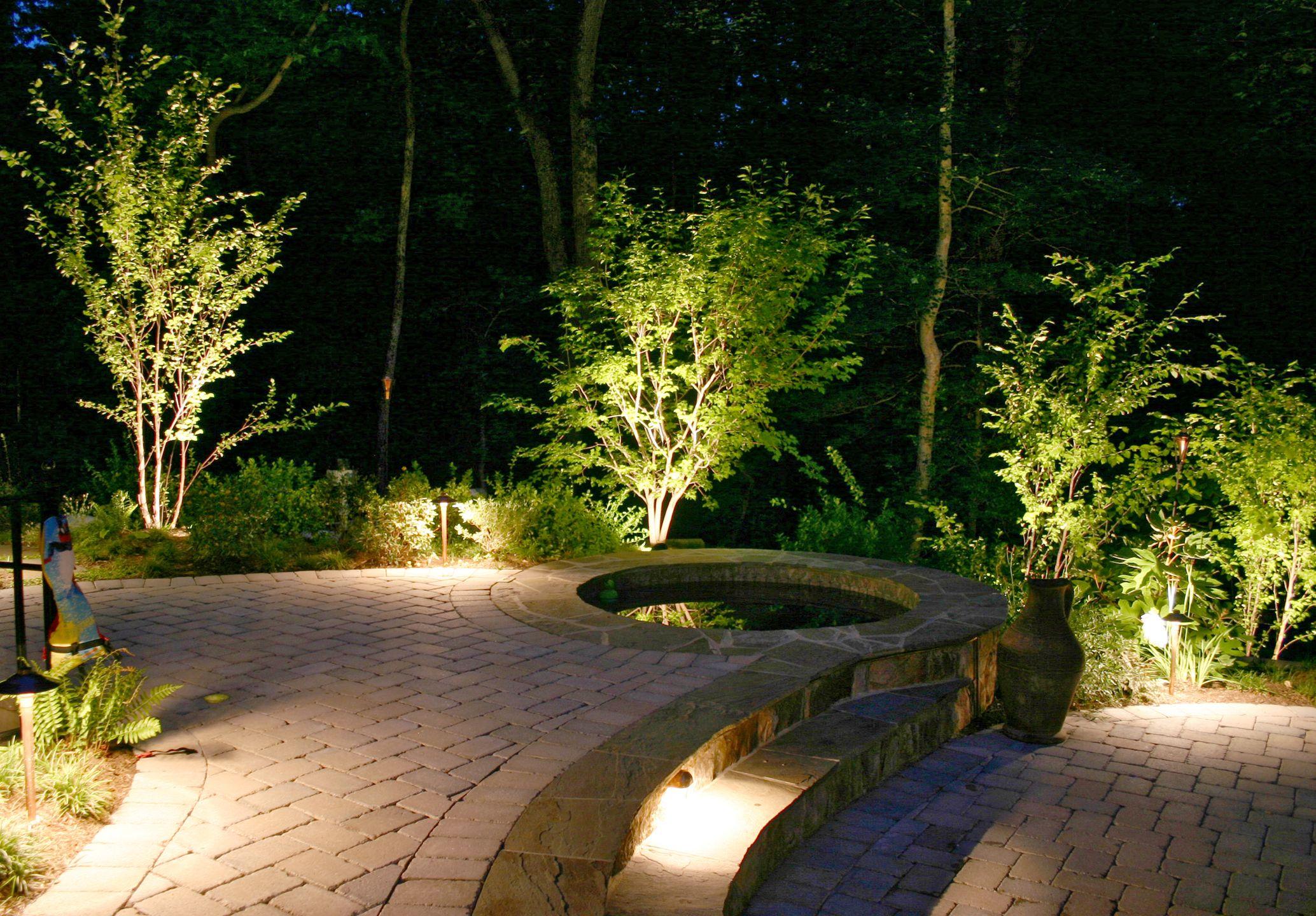 Uplighting for crape myrtle in pool area outdoor lighting uplighting for crape myrtle in pool area backyard lightingoutdoor aloadofball Gallery