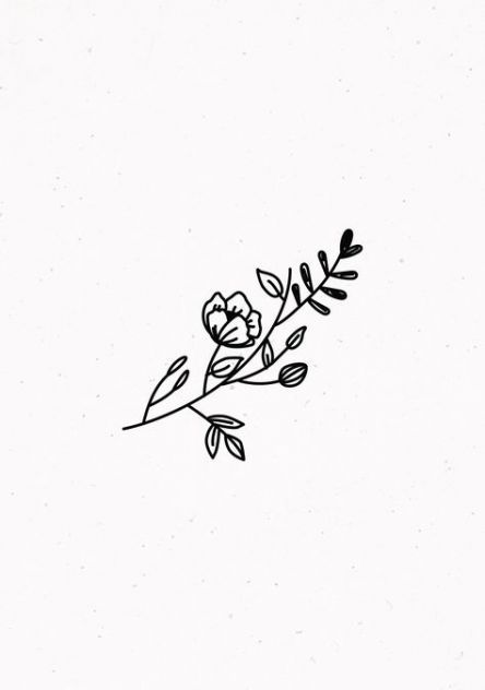 Flowers Drawing Simple Aesthetic 23 Ideas Flower Sketches Flower Drawing Trendy Flowers