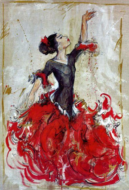10 anonyme peintures dessins flamenco pinterest for Toile a peindre castorama