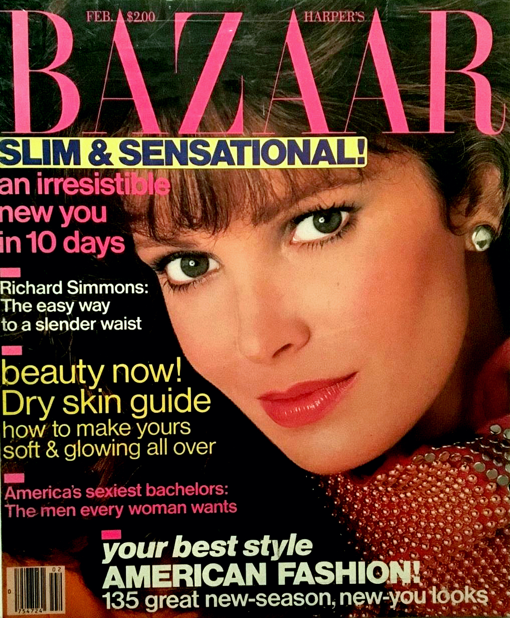 Jaclyn on the cover of Harper's Bazaar magazine, 1983.
