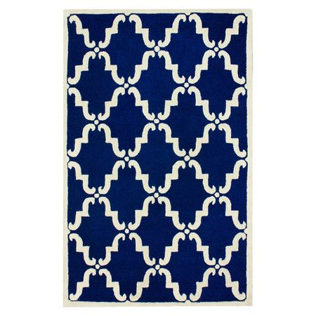 Dana Rug In Blue Wool Area Rugs Area Rugs Handmade Wool Rugs
