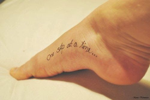 Life Is Amazing Small Black Foot Quote Tattoos For Girls