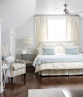 Cape Cod Bedroom. Love the crispness of this room. Master ...