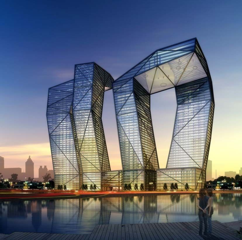 The Stunning 54 Story Naga Towers Designed As A Modern Indian Architectural Interpretation Of Cherished Cultural Symbol Snake