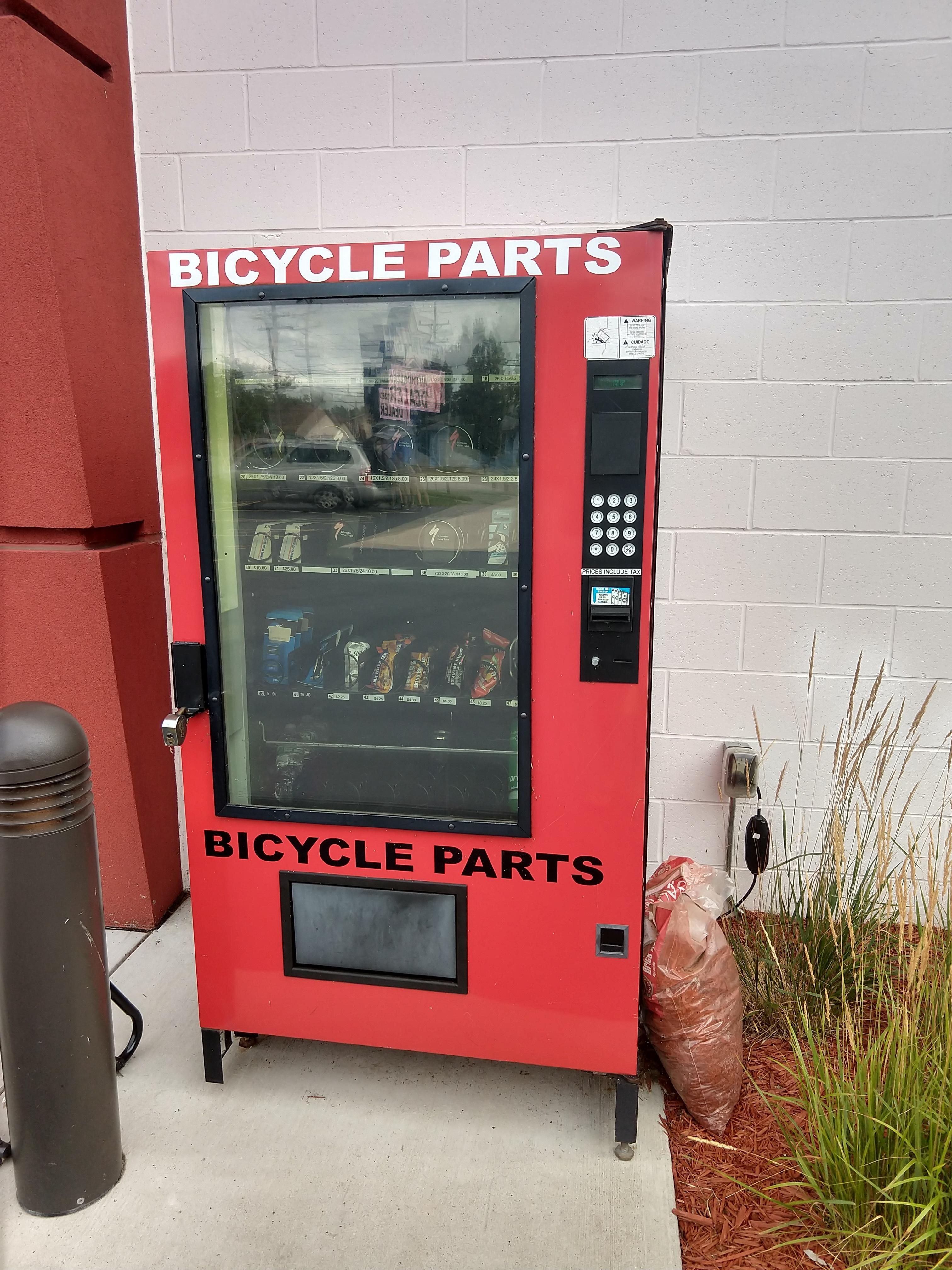 A Vending Machine For Bike Parts Outside My Local Bike Shop Pets