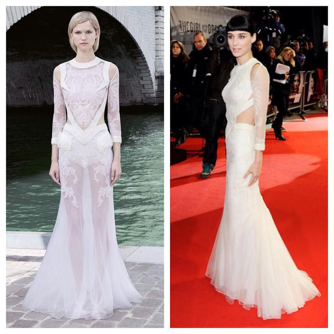 Daily couture day rooneymara wearing a givenchy haute couture