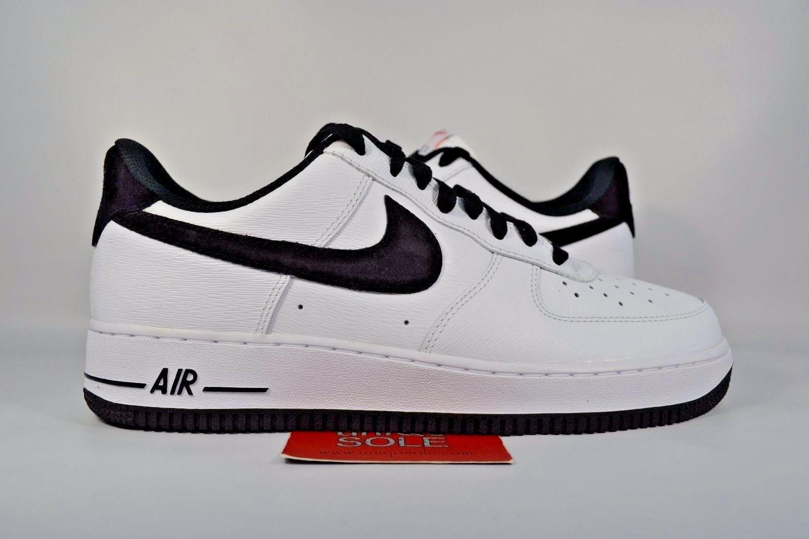 NEW Nike Air Force 1 Low WHITE BLACK 488298 152 sz 10.5