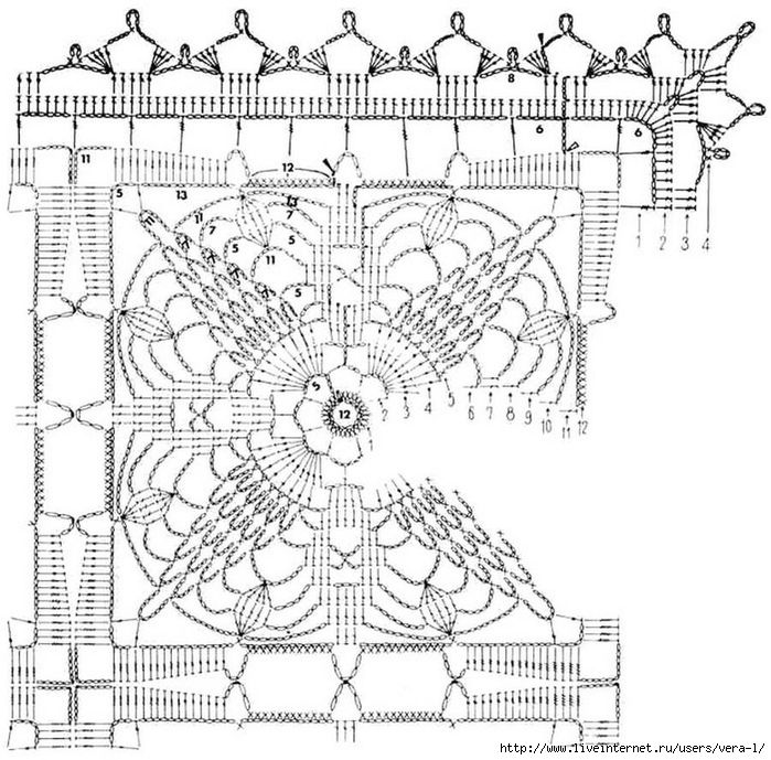 crochet-Mantel libre patrón 31 (2) (700x689, 326Kb) | CROCHET ...