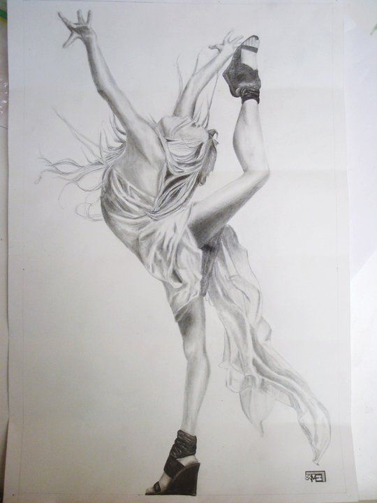 awesome dance drawing (look at them shoes!) | Scribbles ...