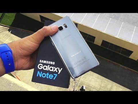 Samsung Galaxy Note 7 dropped from 10 ft, what happens next is interesting…