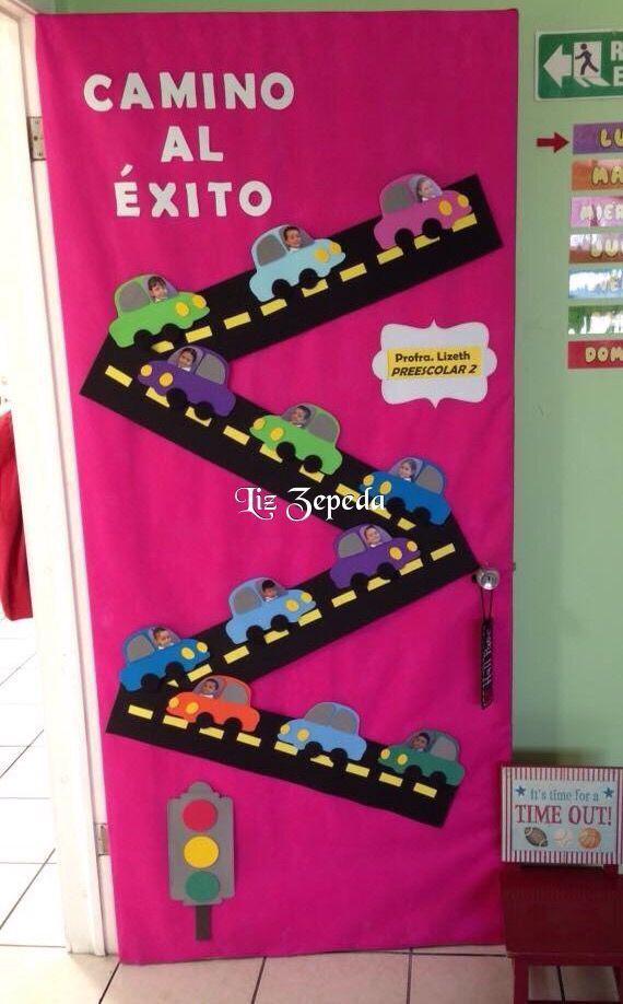 Resultado de imagen para adornos de bienvenida para el for Puertas escolares decoradas