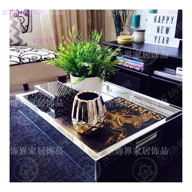 Decorative Mirror Tray Extraordinary Glamour Glass Mirrored Tray Modern Wine Glass Tray Storagelarge Decorating Inspiration