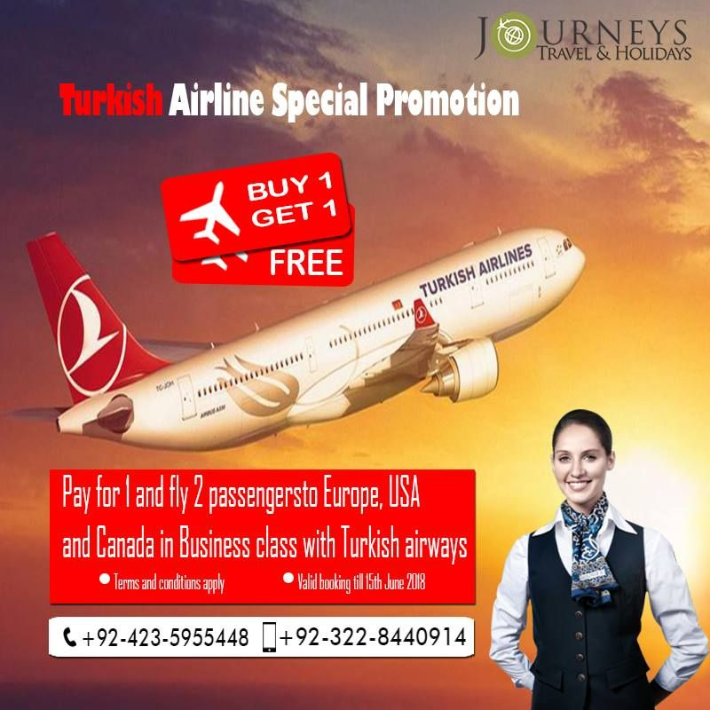turkish airline buy one get one free