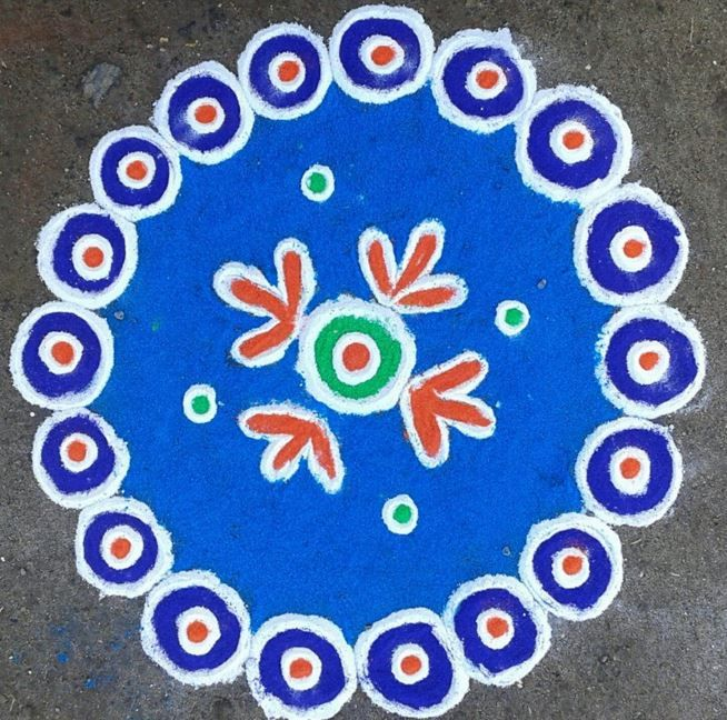 Simple Rangoli Design - Rangoli | Simple rangoli, Rangoli ...