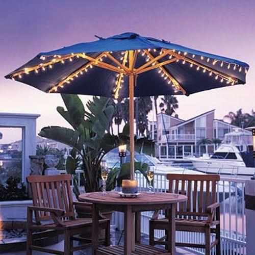 Harbor Outdoor Patio Umbrella Lights