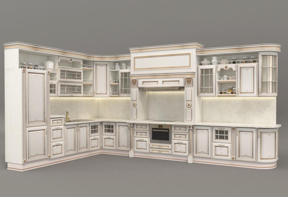 European Style Kitchen 3 3d Model Kitchen Styling House Styles European Fashion