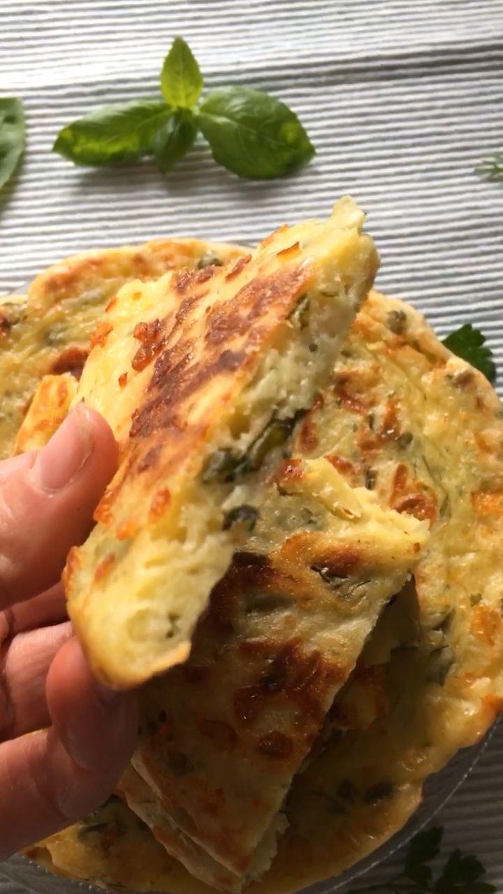 Faule Chatschapuri – vereinfachtes Rezept für leckere Käse-Teigfladen #pancakecasserole