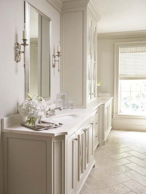 The Best Cream Bathrooms To Copy Maria Killam Bathrooms Remodel Bathroom Design Stone Tile Flooring