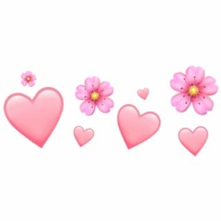 Flower Emoji Iphone Aesthetic Tumblr Pink Heart Hearts Free Clip Art Pink Heart