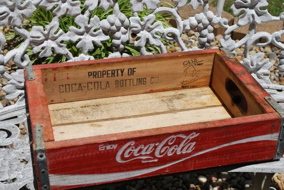 Vintage Wooden Undated Undivided Coke Crate By Aglimpsefromthepast