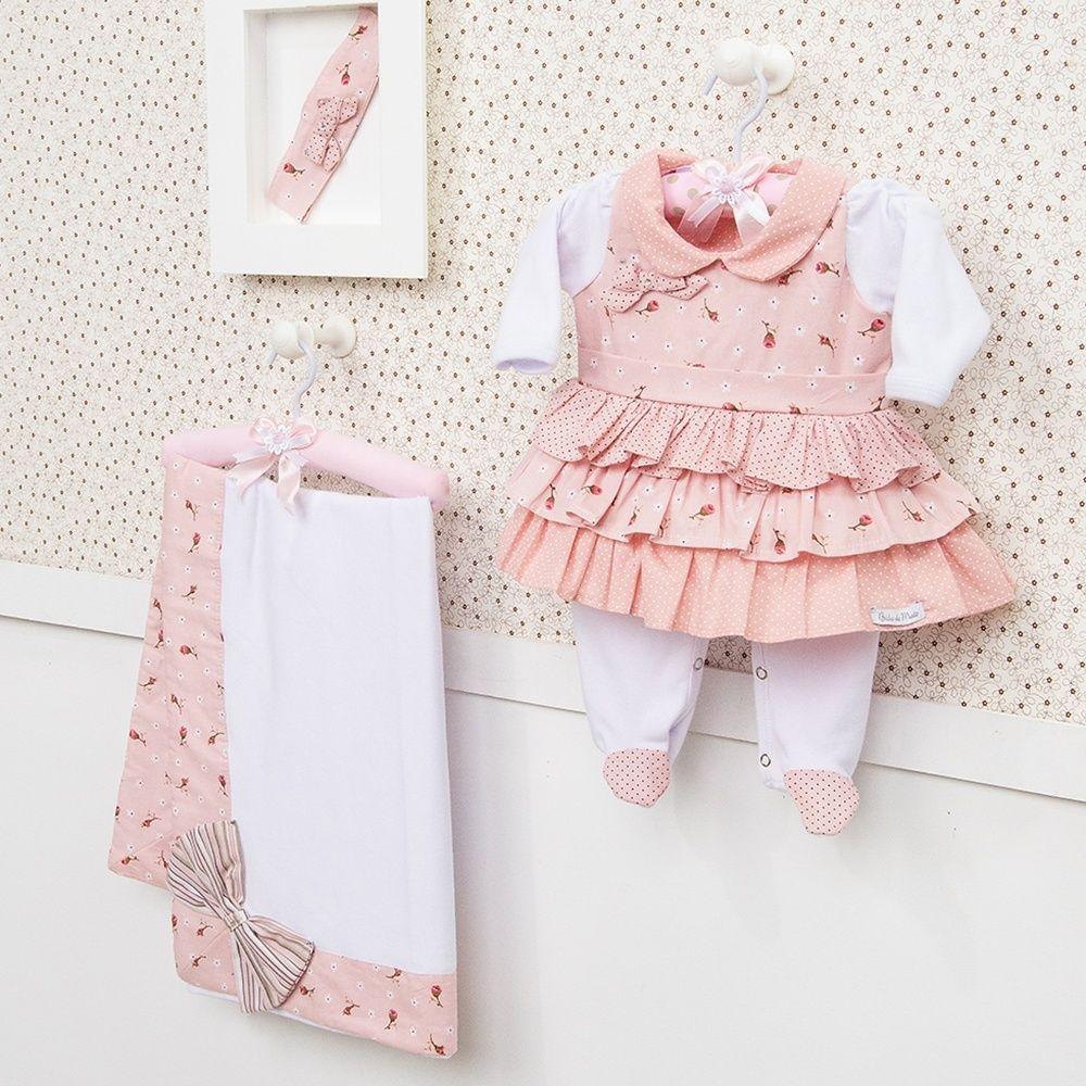fbf13848a4 Saída Maternidade Vestido Laura Rosê