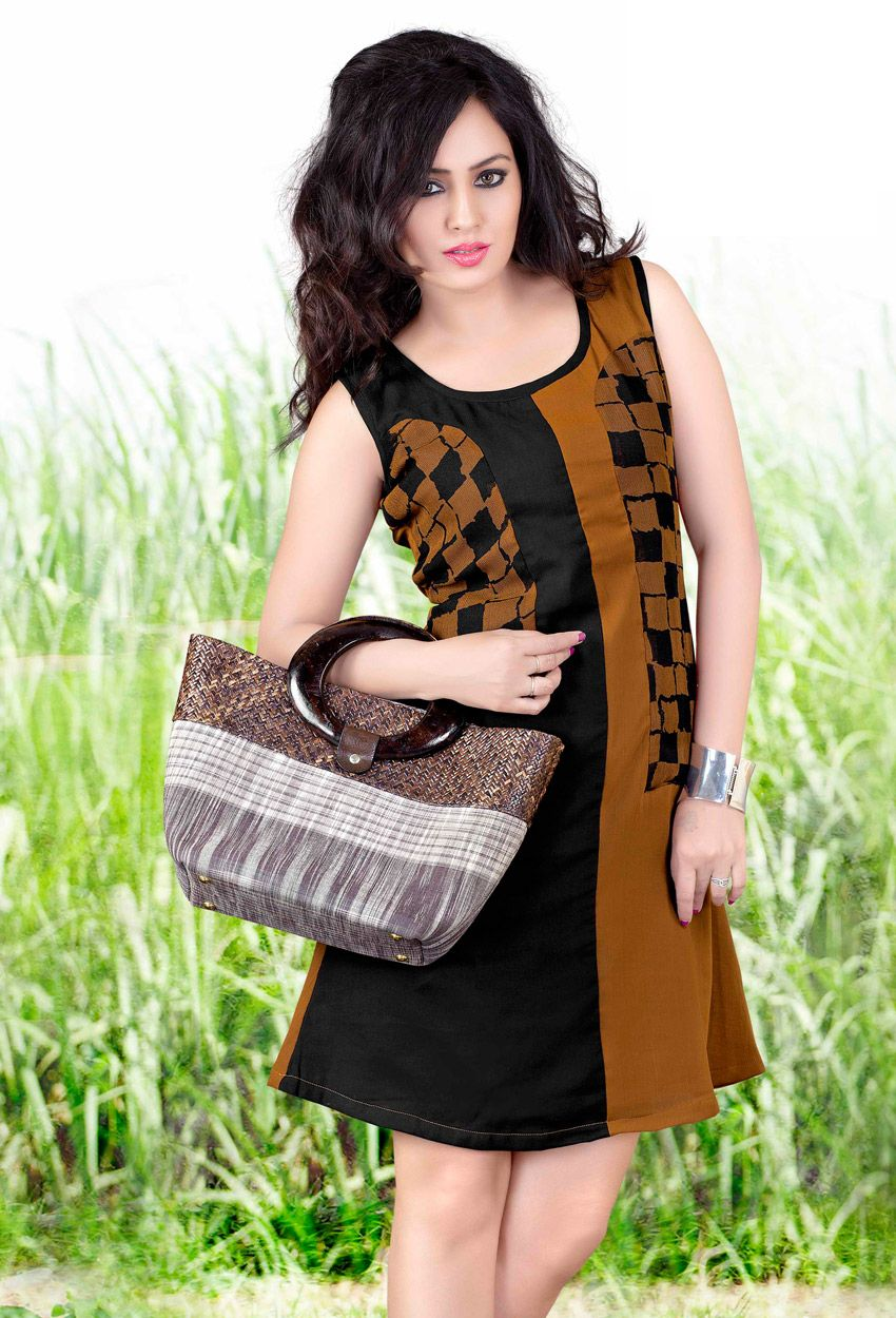 cfe4150f89 #Readymade #Brown #Polyster And #Georgette #Kurti #nikvik #usa #designer # australia #canada #freeshipping #fashion #dress #tunic