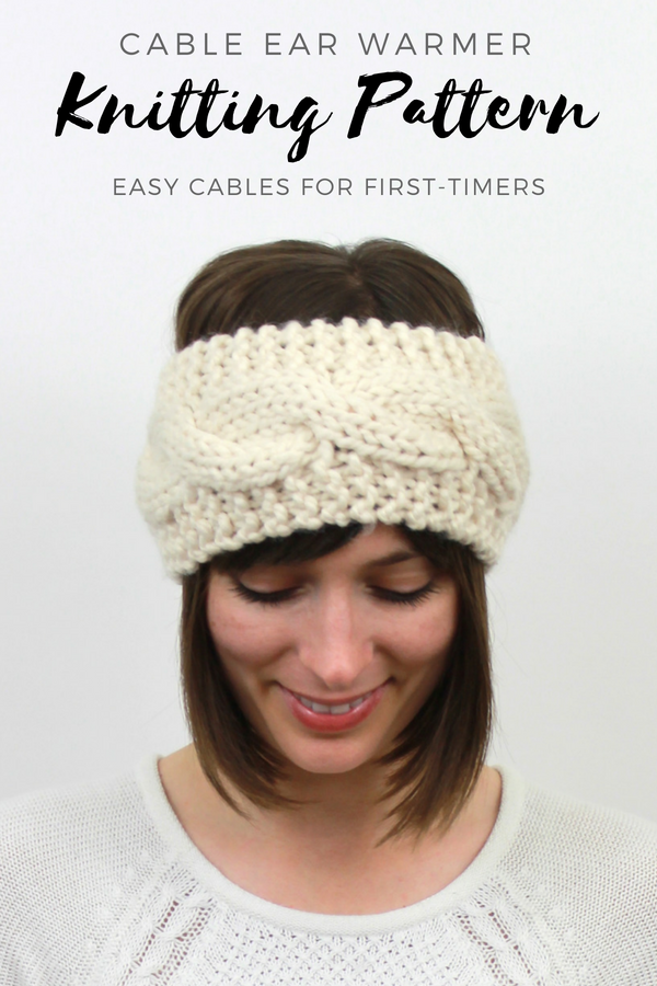 Knitting Pattern Cable Knit Headband Ear Warmer Easy Knitting