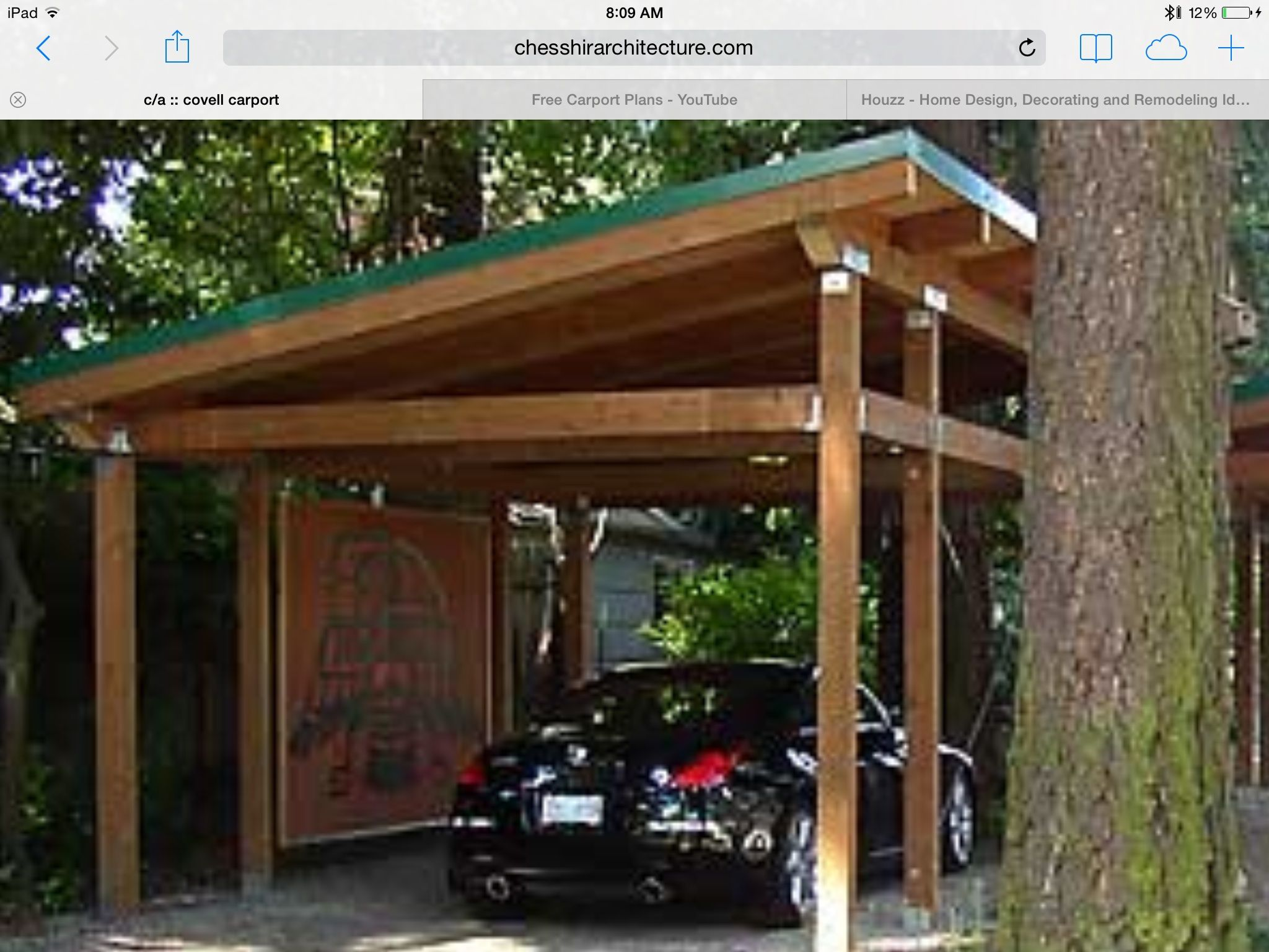 Timber framed carport House styles, House design, Wooden