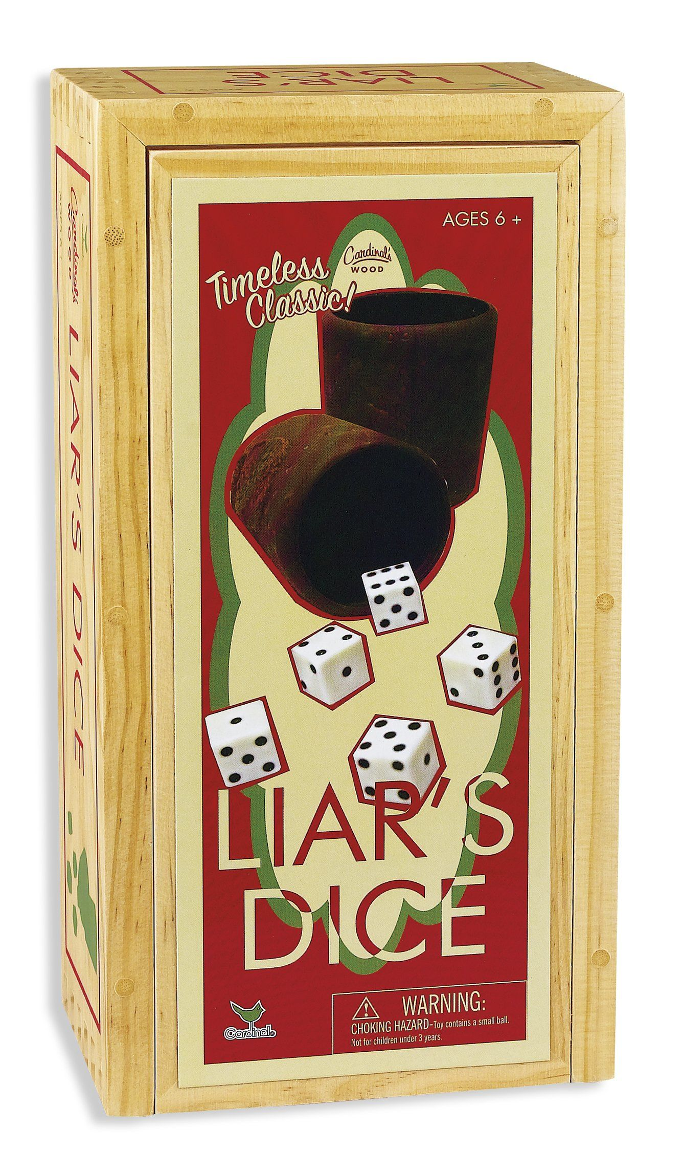 Cardinal Games Liars Dice In Wood Box Retro Game Retro