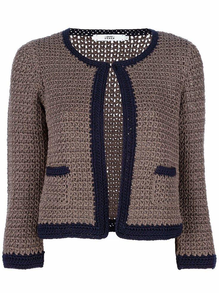 89e48ce2e Crochetemoda  Casacos  Cardigans de Crochet