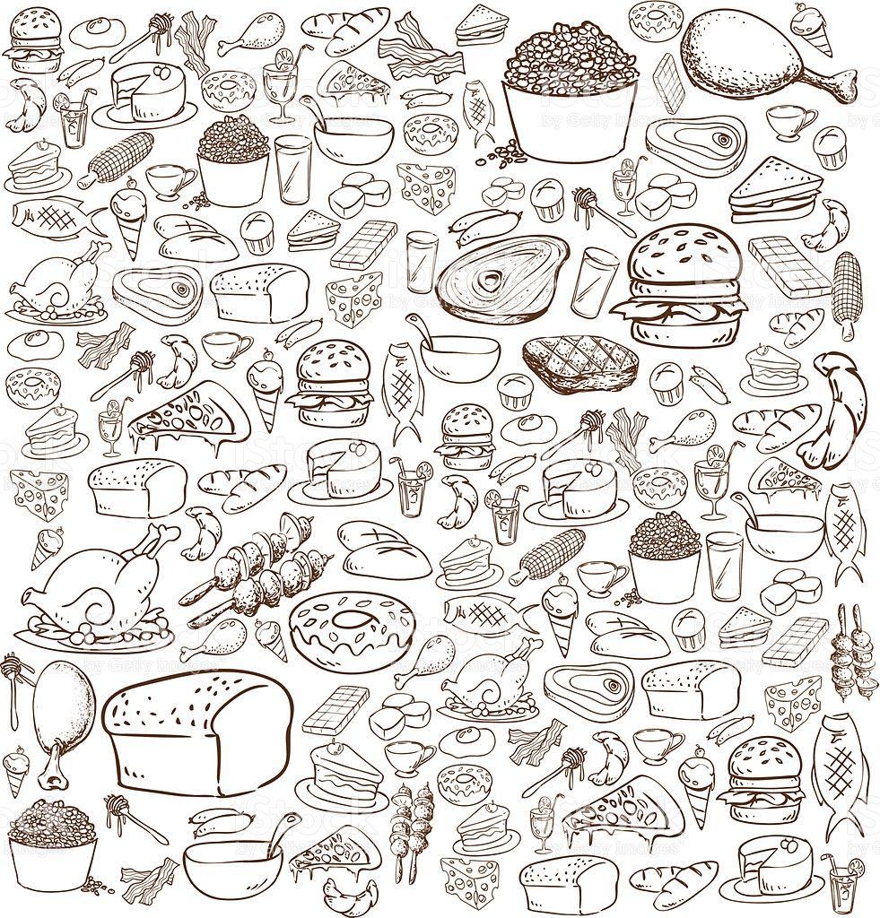 food-doodle-vector-id506671011 (981×1024)   Free vector ...