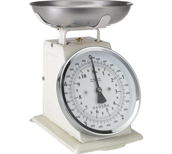 Buy Hanson Traditional Mechanical Kitchen Scale Cream At Argos Co