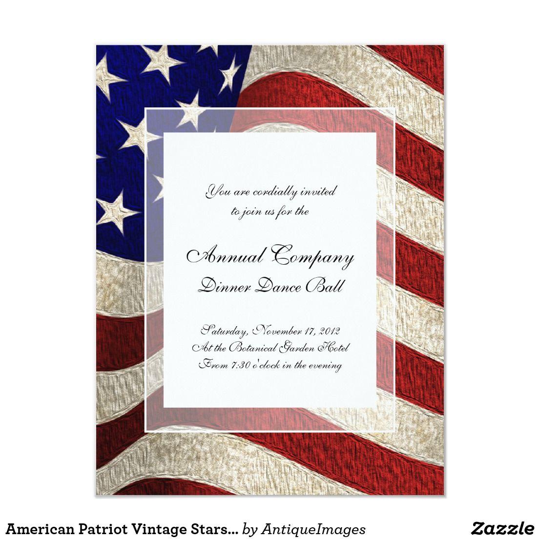 American Patriot Vintage Stars And Stripes US Flag