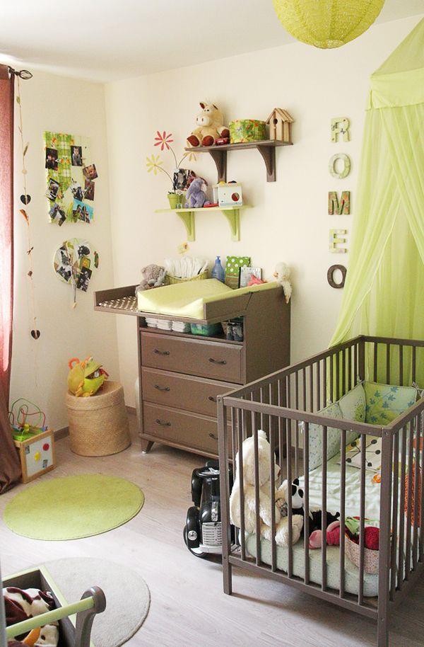 déco chambre bébé vert anis | Déco Sphair