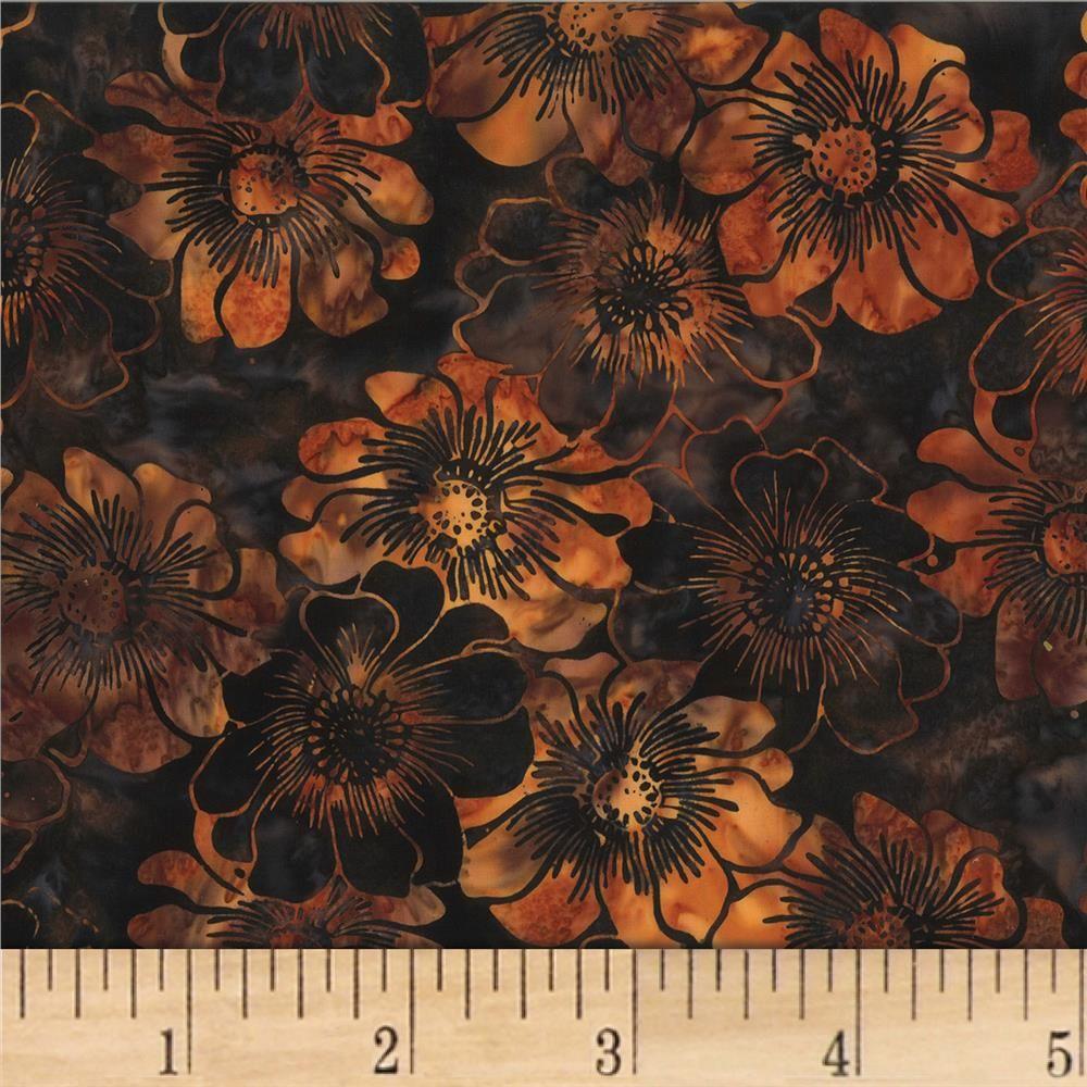 Hoffman Bali Batik Graphic Floral Kashmir