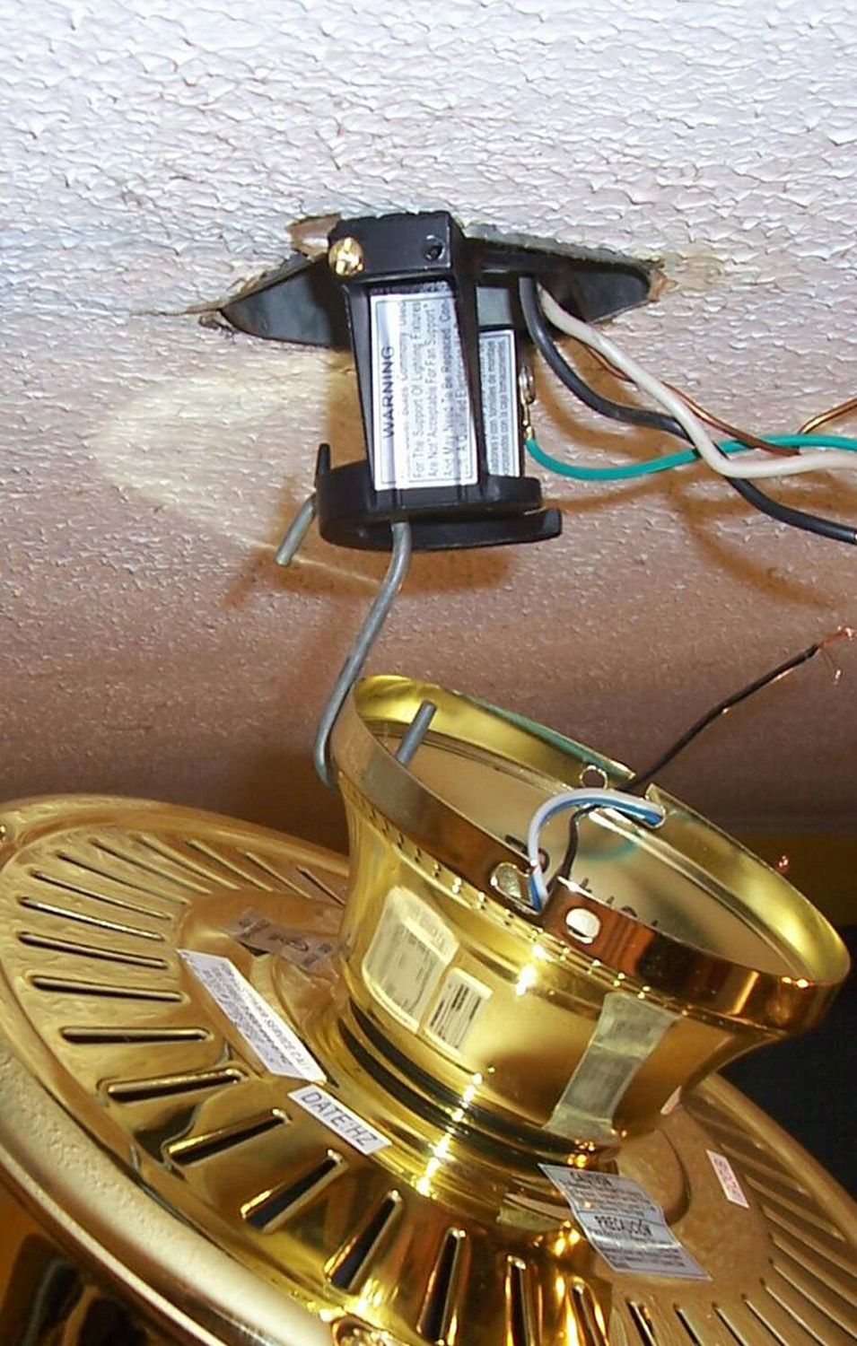 No helper? No problem for ceiling fan installation! Tips on how to on