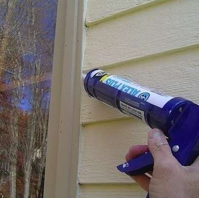 Caulkany Remaining Gaps In Siding Windows Or Doors Can Be Filled With Caulk For Extra Drafty Windows And Doors Home Repair Diy Home Repair Weatherstripping
