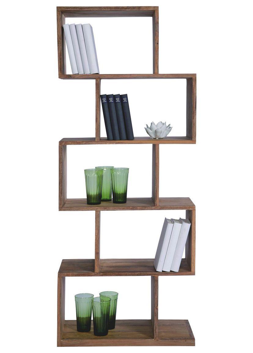 Regal Sheesham Massiv Sheeshamfarben In 2020 Shelves Wooden Bookcase Home Decor