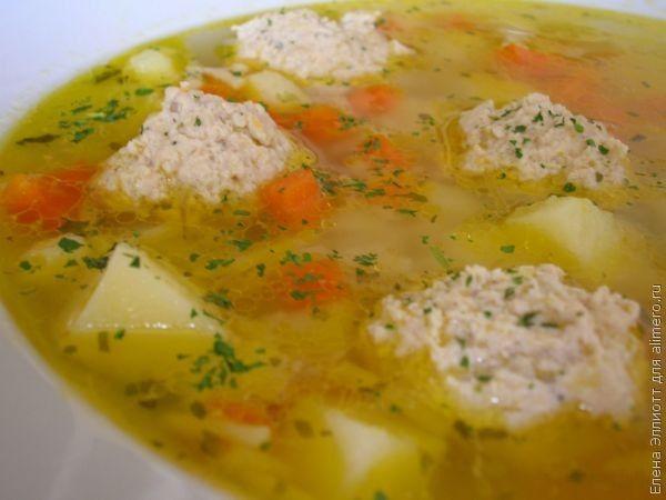 Суп с куриными фрикадельками, рецепты с фото | Куриные ...