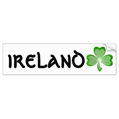 Shamrock ireland bumper sticker stpatricksday bumper stickers