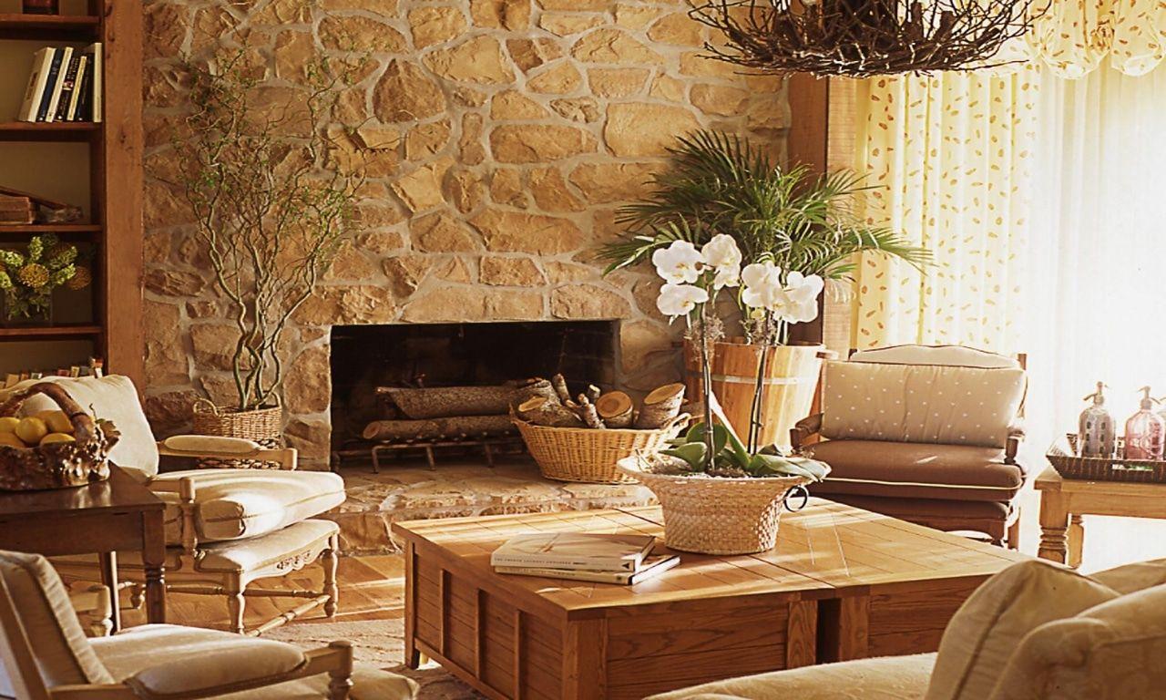 Los salones r sticos m s inspiradores rustic chic - Decorar salones rusticos ...