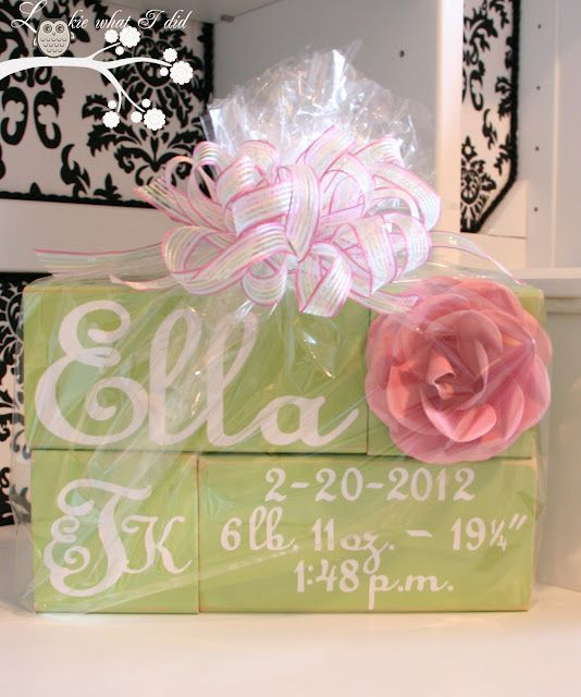 Lookie what i did personalized baby blocks a baby gift party lookie what i did personalized baby blocks a baby gift negle Choice Image