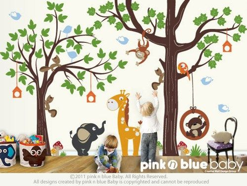 Kids Wall Decal : Make A Playroom With Our ORIGINAL PLAYROOM |  PinknblueBaby   Childrens On ArtFire