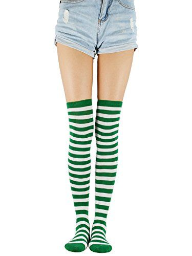 bf44334c19d Passionate Adventure Over The Knee High Striped Socks Elegant Casual Girls  Boot Tights Thigh High Long Athlete Stockings For Womens