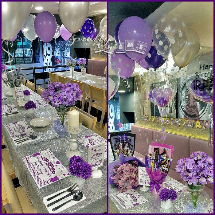 Lavender Silver Birthday Party Decor Birthday Party Decorations Birthday Decorations Party Decorations