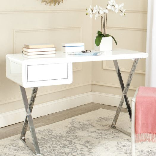 Hanover Writing Desk by Safavieh- A sleek little space that can be ...